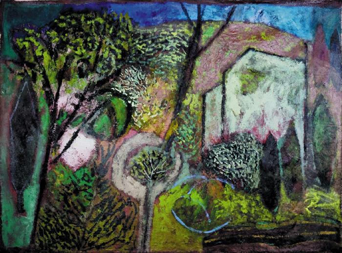 serge plagnol sainte anastasie le grand paysage 2009 huile